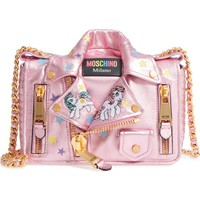 Moschino x My Little Pony Biker Jacket Metallic Leather Crossbody Bag | Nordstrom