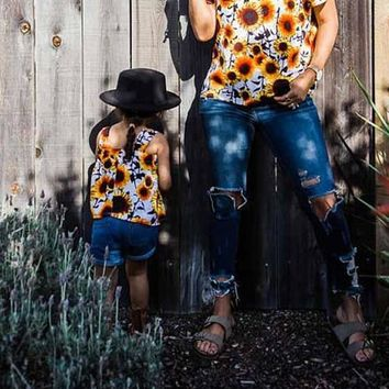 Yellow Sunflower Print Off Shoulder Backless Bohemian Going out Blouse