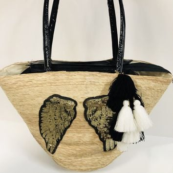 Mexican Embellished Tote - Wings