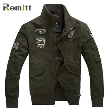 Men Autumn Air Force Tactical Pilot Jacket Solider Military Styled Jacket For Workman Army Green Coat XXXL 4XL Working Clothing
