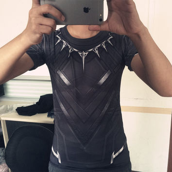 Black Panther T Shirt Captain America Civil War Tee 3D Printed T-shirts Men Marvel Avengers iron man Fitness Male Crossfit Tops