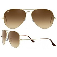 DCCKIG3 Ray Ban Aviator RB3025 Sunglasses 001/51 Gold with Brown Gradient Lens