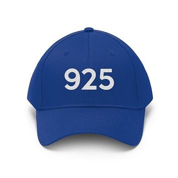 California 925 Area Code Embroidered Twill Hat