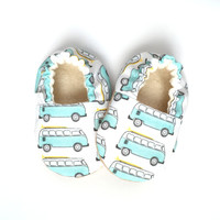 VW Bus Camper Baby Shoes