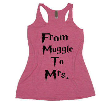 From muggle to mrs, wedding tank, bridesmaid tank,