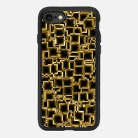 Boxey Gold iPhone 7 Case by Alice Gosling | Casetify