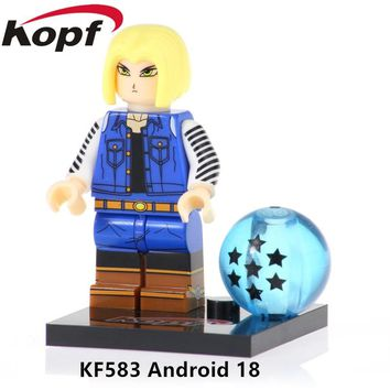 KF583 Single Sale Android 18 Figures Son Goku Bricks Ephesians Dragon Ball Series Building Blocks Toys For Children Best Gift