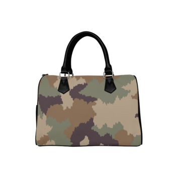 Personalized Women Bag Army Digital Camo Boston Top Handbag
