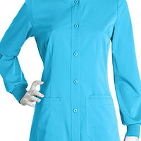 NrG by Barco Uniforms Women's Junior Warm Up Solid Scrub Jacket