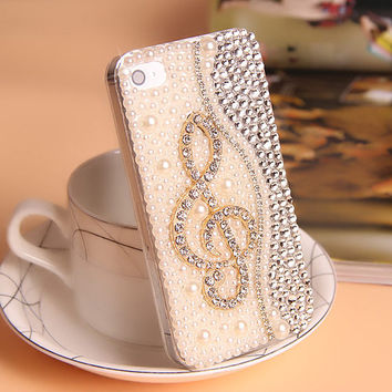 Bling rhinestone iphoen 6 case pearl iphone6 plus case fashion iphone 5/5s/5c case iphone 6 plus cases iphone 4/4s case phone case cover