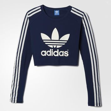 adidas Paris Crop Tee - Blue | adidas US