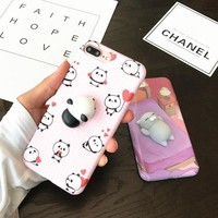 Japanese kawaii silicone cat/panda Iphone phone case SD00235
