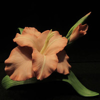 LENOX Garden Flowers, Gladiolus , Porcelain Flower Sculpture Handcrafted in China    (1594)