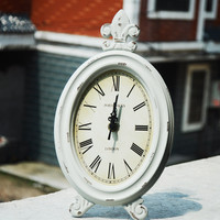 Wooden Weathered Vintage Home Clock [6282890566]