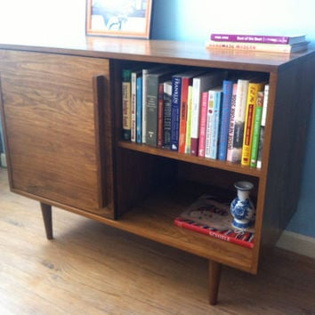 Media Credenza with Sliding door by STORnewyork on Etsy
