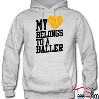 my heart belongs to a baller hoodie