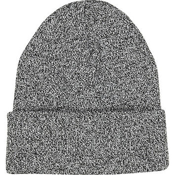 River Island MensBlack and white twist knit beanie hat