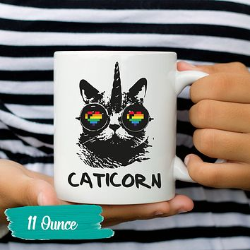 Cat Mug Caticorn Cat Lover Gift Cat Coffee Funny Coffee Mug Unique Sayings and Quotes 11 and 15 oz. Sizes