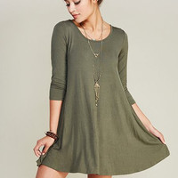 Girl Boss Swing Dress - Olive
