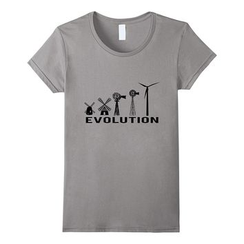 Wind Turbine Kit Shirts:The Evolution t-Shirt ~ black print