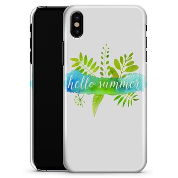 Hello Summer Watercolor Branches - iPhone X Clipit Case
