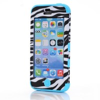 iPhone 5C Case,XYUN(TM) 3-piece Colorful Zebra High Impact Rugged Iphone 5c Hard Case Cover with Screen Protector and Stylus Include a XYUN Mobile Phone Cleaner Dust Plug Gift (Green)