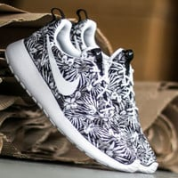 NIKE Women Men Running Sport Casual Shoes Sneakers orchid Grey print