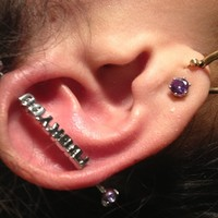 Stainless Steel F*ck You Industrial Barbell   Body Candy Body Jewelry
