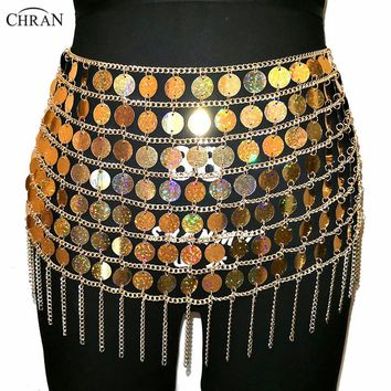 Sequin Body Chain Skirt/Top (10 Colors)