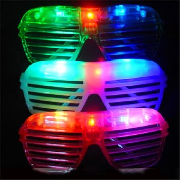 New Trendy 10pcs LED Party Lighting Glasses Led Neon Glasses for Xmas Birthday Halloween Party Bar Costume Decor Supplies