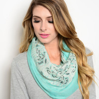 Paisley Infinity Scarf (4 Colors)