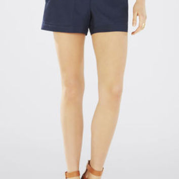 Brown/Blue BCBG Addison Paper Bag Shorts