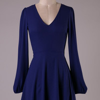 Give in to Me Dress- Navy