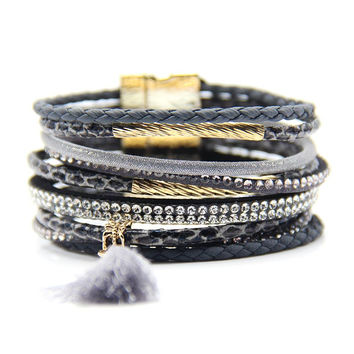Brazilian bracelets femme new fashion jewelry Bohemian magnetic bracelets for women vintage jewelry bijoux