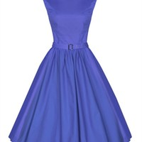 Lindy Bop 50's Audrey Hepburn Style Dress In Blue | Tiger Milly