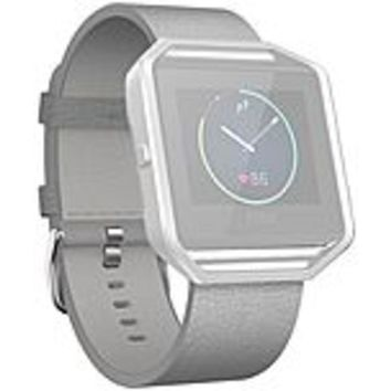 Fitbit Sleep-Activity Monitor Wristband - Mist Gray - Leather, Stainless Steel