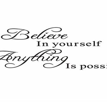 If You Believe In Yourself Inspirational Quotes Wall Stickers