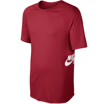 Nike SB Skyline Dri Fit Crew T-Shirt - Team Red/Gym Red/Gym Red