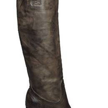 Frye Womens Boots Carson Heel Tab 77668 Charcoal Grey Leather