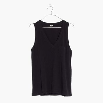 Whisper Cotton V-Neck Pocket Tank : | Madewell