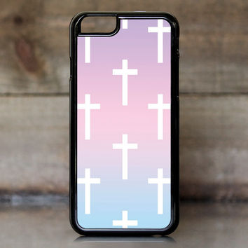 Ombre Pastel Crosses Case for Apple iPhone 6