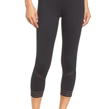 Zella Amour High Waist Crop Leggings | Nordstrom