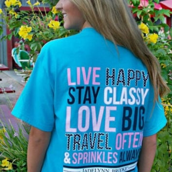 JADELYNN BROOKE: Live Happy Pocket Tee