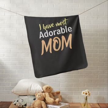 Mothers day special- Adorable Mother design Baby Blanket