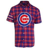 Chicago Cubs Official MLB Colorblock Short Sleeve Flannel