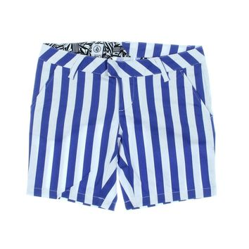 Volcom Womens Juniors Frochickie Striped Flat Front Casual Shorts