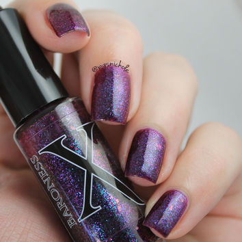 Maharet - Deep Berry Jelly Polish w/ Multichrome Glitter
