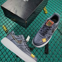Just Do It Nike Air Force 1 Low Af1 Grey Sport Shoes - Best Online Sale