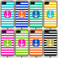 Anchor Teen Fashion Color Stripes Design iPhone 6/5S/5C/5/4S/4 Wrap Case and Tough Case