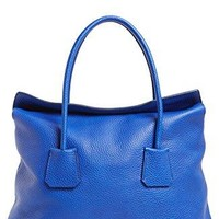 Burberry Women's Brilliant Blue Baynard Grained Leather Top Handle Handbah Purse